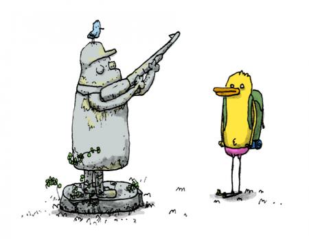 statue canard